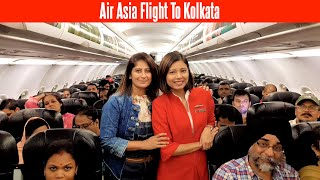 Air Asia Flight To Kolkata | Travel In New Delhi - Kolkata Air Asia I5 550 Full Tour | Flight Vlog