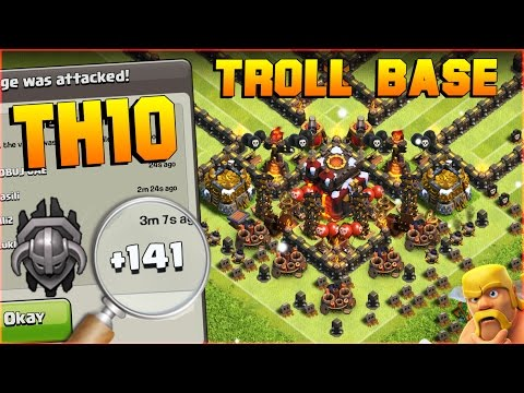 Clash of Clans | BEST TH10 Troll Base | EPIC MASTER LEAGUE NOOB TROLLING!! | After CoC New Update