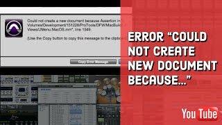 ...''Çünkü Pro Tools 11 Hata ''yeni belge oluştur.