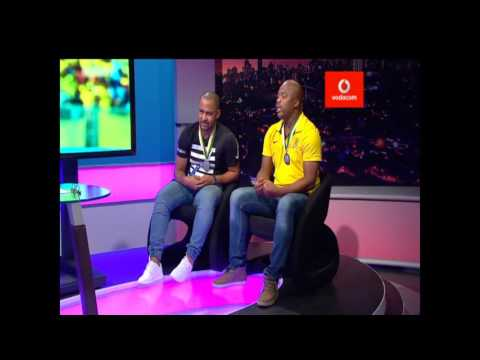Thomas Mlambo  interviews soccer legends  Fabian McCarthy and Lovers Mohlala