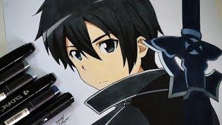 Drawing Kirito From Sword Art Online