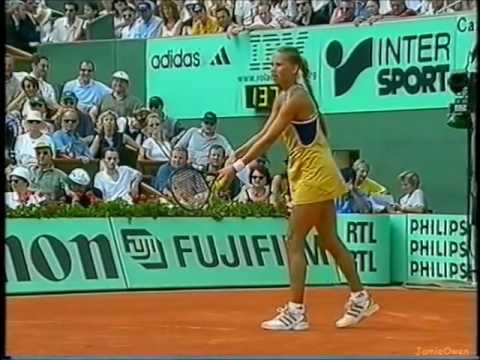 Steffi Graf vs Anna Kournikova 1999 RG Highlights