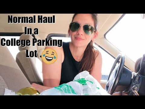 DOLLAR TREE HAUL   NEW HALLOWEEN FINDS 2019 (Hauling In A College Parking Lot)
