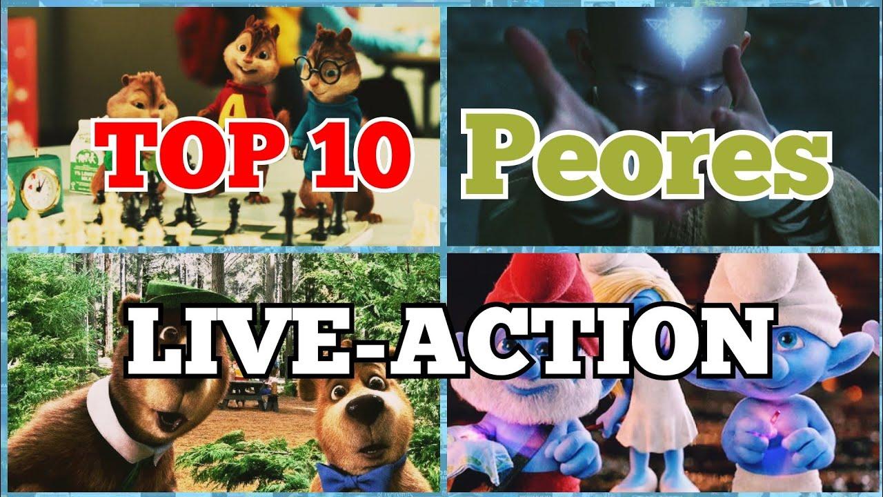 Download 10 PEORES Adaptaciones de ANIMACIÓN a LIVE ACTION! | Top 10