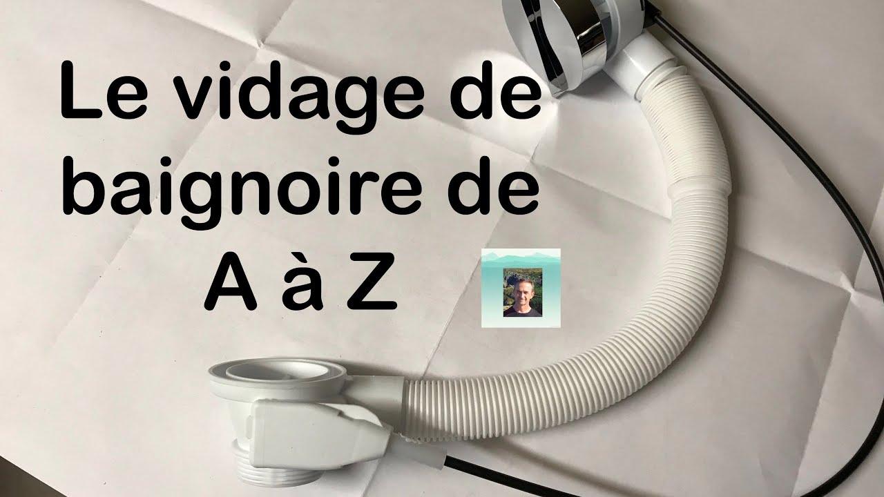 Plomberie Le Vidage De Baignoire A Cable Youtube