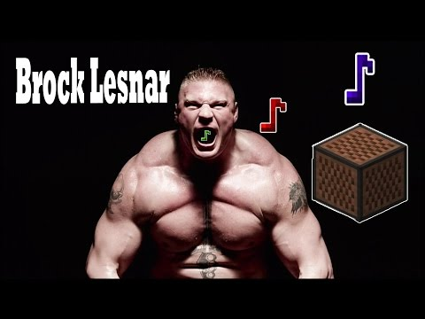 WWE Brock Lesnar Theme Song - Minecraft Note Block Remake
