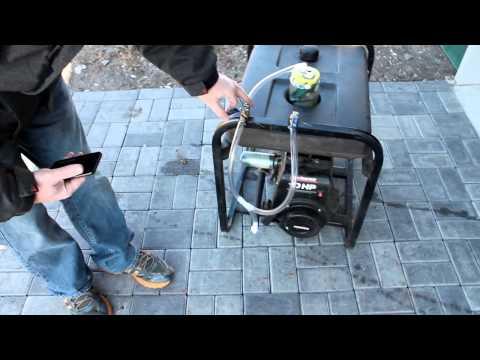 Generator running on gasoline vapor. No carburetor. Increased fuel efficiency.