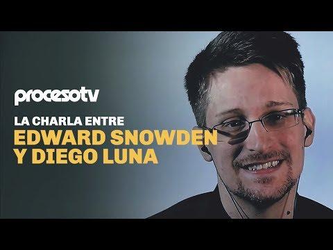 La charla entre Edward Snowden y Diego Luna