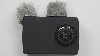 Wind Filter Protection For Yi Lite Action Camera - Rycote Micro WindJammers & Silicone Rubber Case