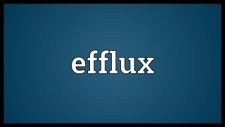 Efflux Meaning