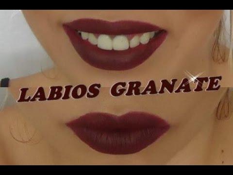 Labios color granate vampy lips con jordana youtube for Labios granates mate