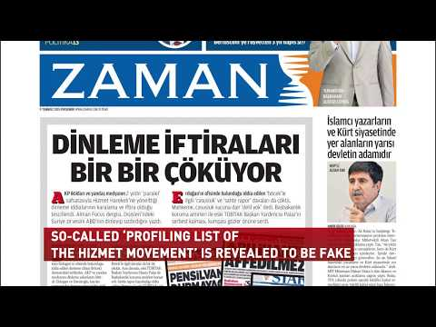 SO-CALLED 'PROFILING LIST OF THE HIZMET MOVEMENT' IS REVEALED TO BE FAKE
