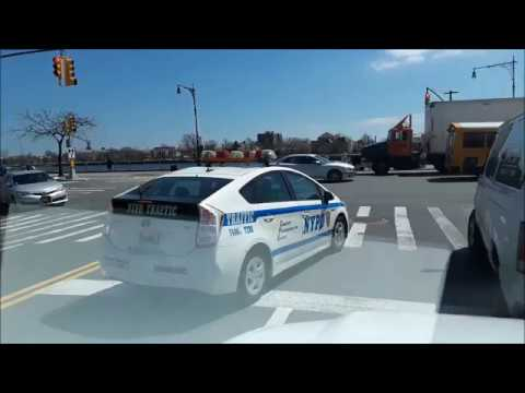 NYPD - illegal turn, using cellphone at the same time (NO EMERGENCY)