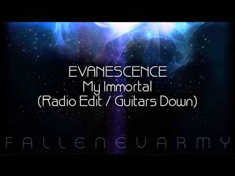 Evanescence my immortal guitars down