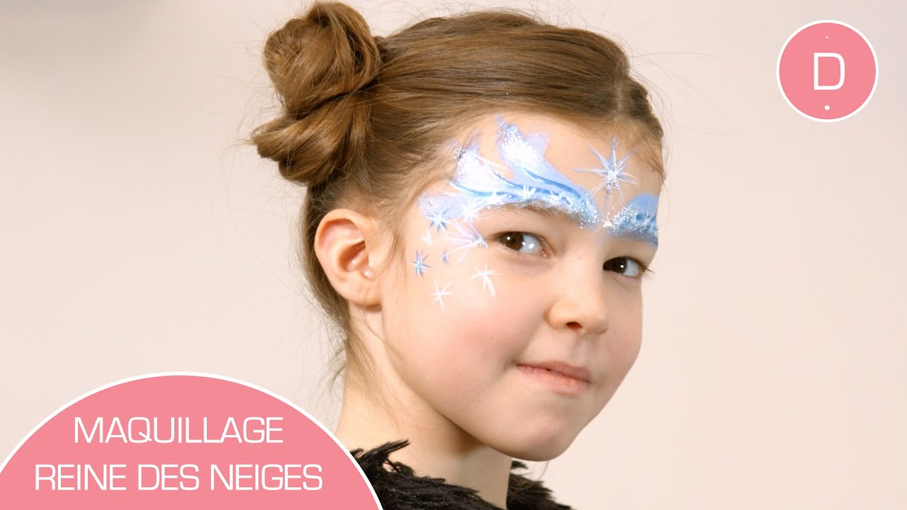Maquillage reine des neiges atelier maquillage youtube - Princesse des neige ...