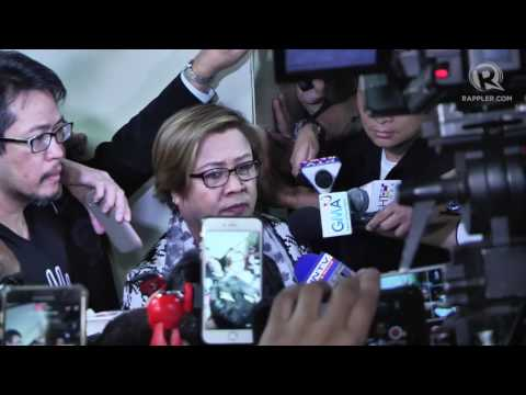Leila de Lima surrenders to police