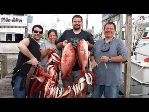 Deep Sea Party Boat Fishing Destin Florida 4-6-2015 Destin Princess Sportfishing Destiny