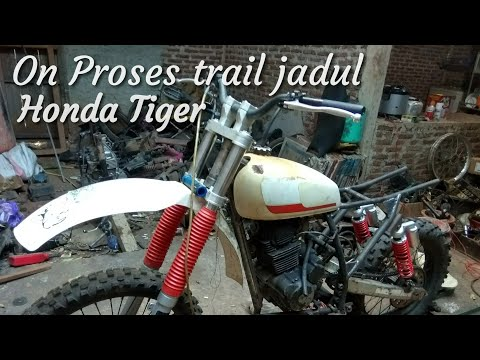 Rangka trail jadul honda tiger
