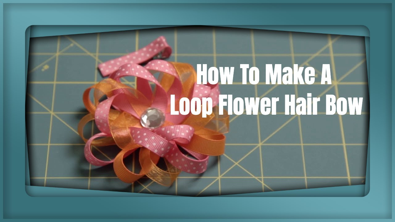 loop flower hair bow