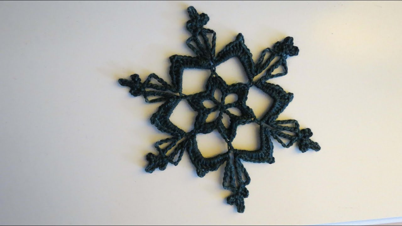 Weihnachtlich Häkeln Ii Häkelstern Crochet Snowflake Eng Sub