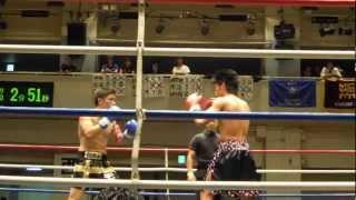 第74回全日本学生キックボクシング選手権ミドル級メインマッチ 宮本靖祥VS伊藤奨 2011年6月26日