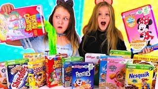 Don't Choose the Wrong Cereal Slime Challenge!!!