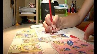 Анастасия Моисеенко рисует комиксы(Сюжет телерадиоцентра