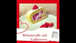 Gesunde Biskuitrolle mit ErdbeerenBiskuitrolle selber machen aus gesunden Zutateneinfach&amplecker