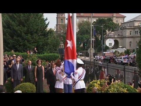 Cuba Raises Flag Over Embassy In D.C.