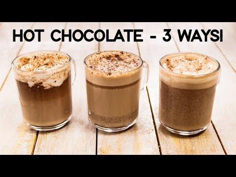 Hot Chocolate Recipe - 3 Ways Easy & Best Milkshake - CookingShooking