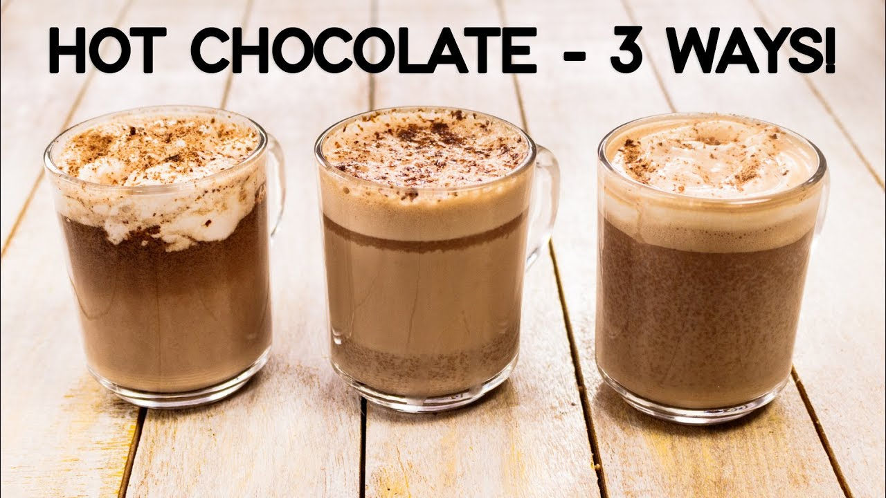 Hot Chocolate Recipe 3 Ways Easy Best Milkshake Cookingshooking Youtube