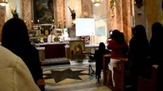 Niedzielna Msza święta w kościele św. Piotra w Jaffie