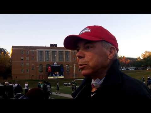 Samford head coach Pat Sullivan at practice Nov. 13, 2013