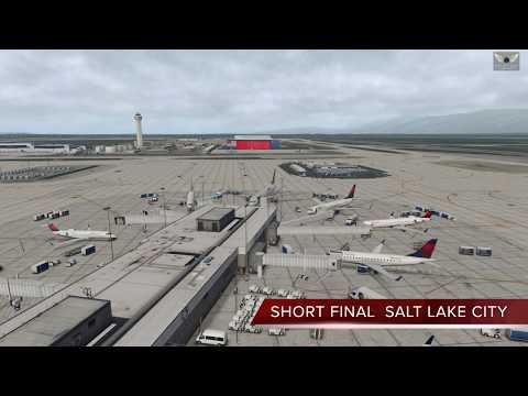 KSLC to KABQ, X-Plane 11, Flight Factor 767, Short Final SLC and ABQ, Foreflight Mobile