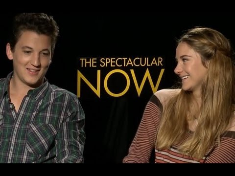 Shailene Woodley and Miles Teller Talk The Spectacular Now and Relationships  Cute !