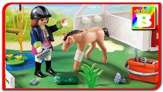 Playmobil Country 6147. Ingrijim caii la ferma de cai animalele domesticie si sunetele lor unboxing