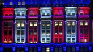 Helmsley Building Memorial Day Lights