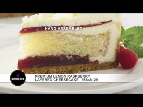 Devonshire® – Premium Lemon Raspberry Layered Cheesecake