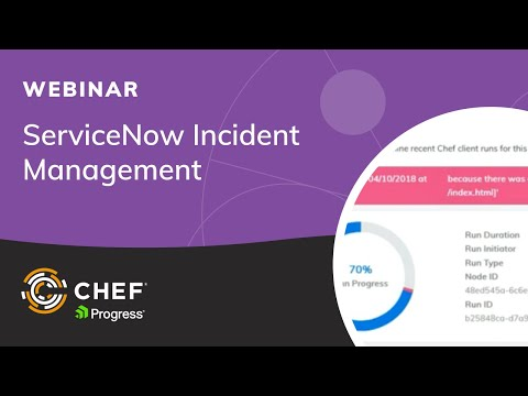 Integrating Chef Automate with ServiceNow Incident
