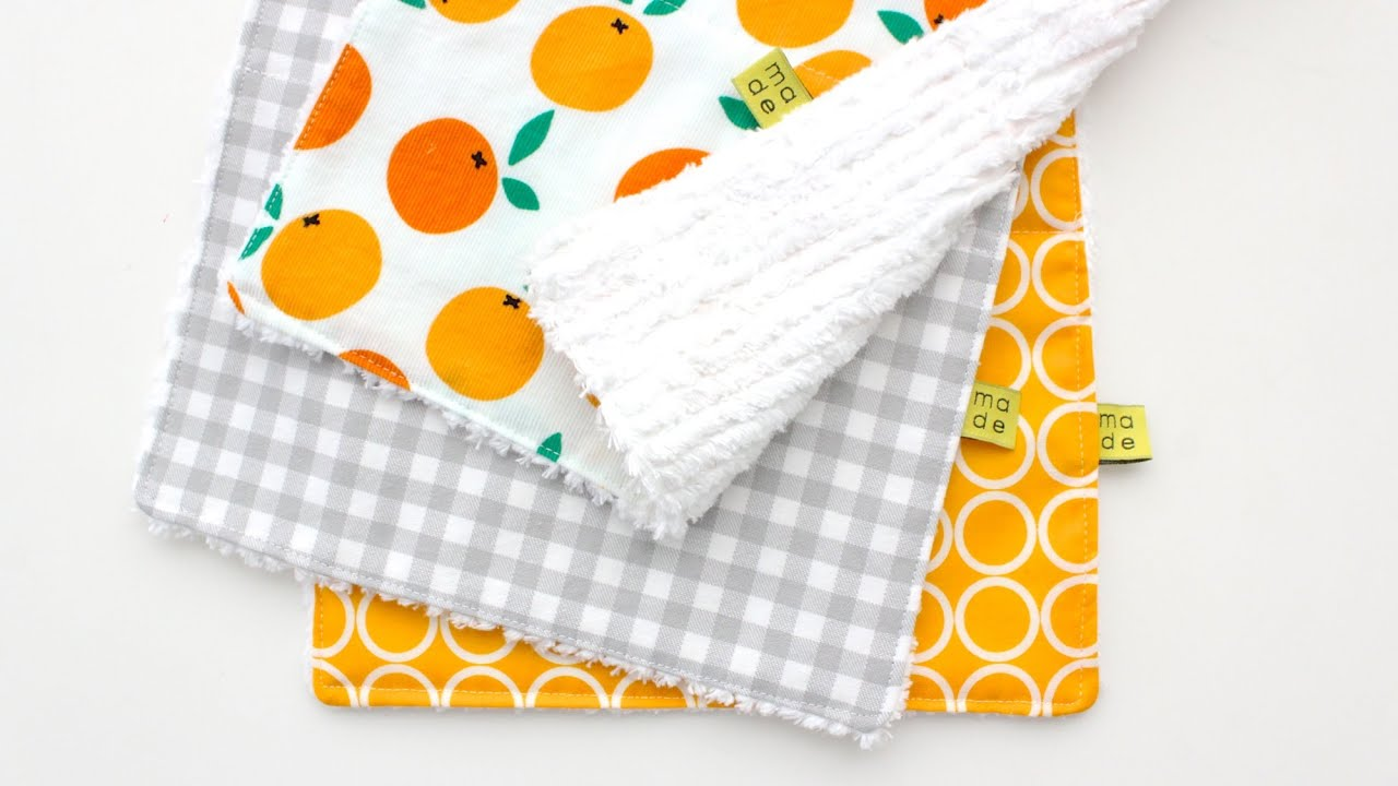 How To Sew A Burp Cloth Easy For Beginners Youtube