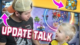 UPDATE talk with MY SON - Unlock and Clan Chest Opening - Clash Royale