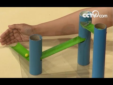 How to make a paper slide | CCTV English