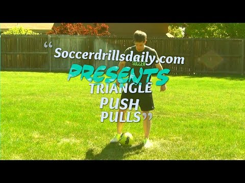 Soccer Drills for Ball Control - Triangle Push Pulls - SoccerDrillsDaily