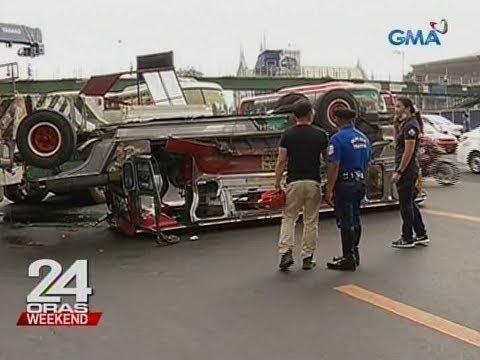 24 Oras: 9 sutagan sa pagbaligtad ng pampasaherong jeep