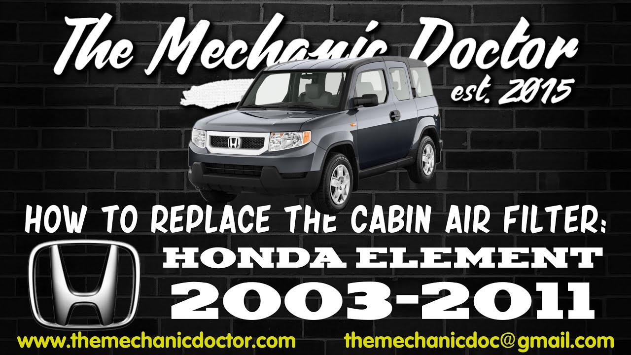 How to Replace the Cabin Air Filter : Honda Element 2003-2011