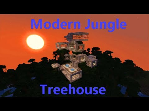 Minecraft Timelapse Modern Jungle Treehouse YouTube