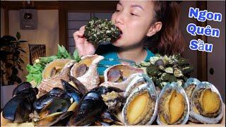 🇯🇵Ốc Tay Rùa,Ốc Xoắn,Bào Ngư&Vẹm-Hấp Sả Chấm Nước Mắm Siêu Cay Ngon Quên Sầu