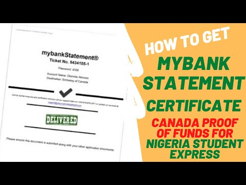 How to get MyBank Statement for Nigeria Student Express| Proof of fund for Canada Study permit