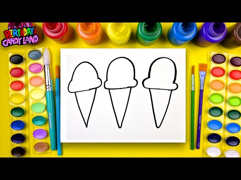 Learn how to Color for Children and Color this Ice Cream Coloring Page 💜