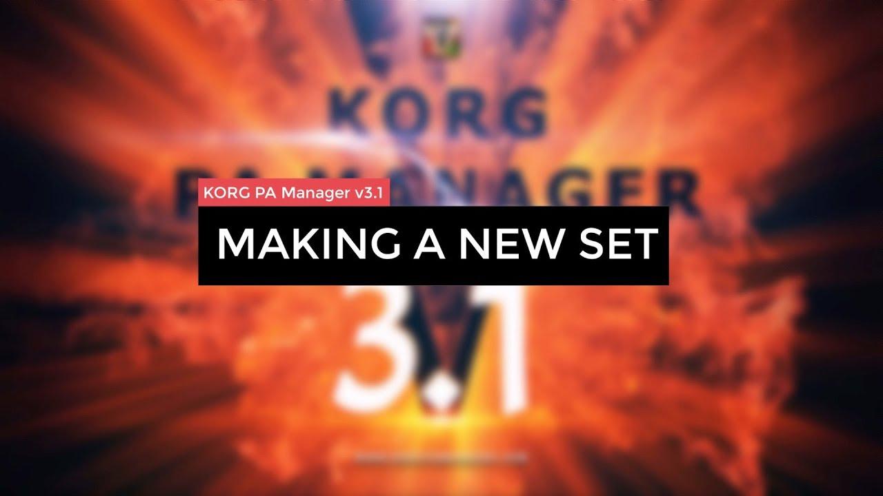 KORG PA Manager | Tutorials